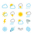 weather forecast air temperature season vector image
