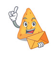 with envelope nachos character cartoon style vector image