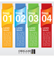 Abstract colorful vertical banner EPS10 vector image vector image