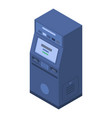 atm cash icon isometric style vector image vector image
