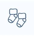 Baby socks sketch icon vector image vector image