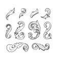 baroque swirls set vector image