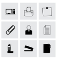 black office icons set vector image vector image