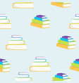 books flat style pattern vector image vector image