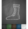 Boxing shoes icon Hand drawn vector image