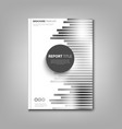 brochures book or flyer with abstract black white vector image vector image