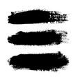 brush strokes set isolated white background vector image vector image