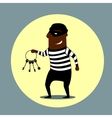 Burglar carrying a set of keys vector image