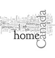canada work at home vector image vector image