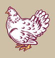 chicken icon hand drawn style vector image