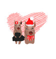 christmas card portrait of the pink pig in a vector image vector image