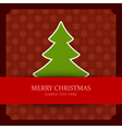 Christmas green tree applique vector image vector image