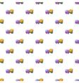 Concrete mixer machine pattern cartoon style vector image vector image