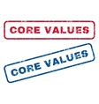 Core Values Rubber Stamps vector image vector image