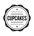 Cupcakes vintage stamp vector image vector image