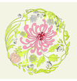 decorative frame with floral element vector image