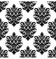 decorative seamless floral pattern background vector image vector image