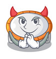 Devil trampoline icon for cartoon