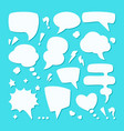 dialogue speech bubble set symbol conversational vector image vector image
