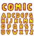Effective Comic alphabet vector image