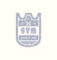 emblem of gum club vector image vector image