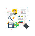 financial investment analytics with growth report vector image vector image