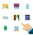 flat icon frame set of cloud clean frame and vector image vector image