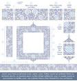 flower decorative ornaments building kit - blue vector image vector image
