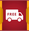 Free shipping truck icon