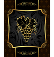 golden frame with grapevine vector image vector image