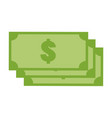 green money icon on white background money icon vector image vector image