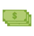 green money icon on white background money icon vector image