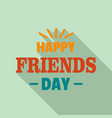 happy friends magic day logo flat style vector image vector image