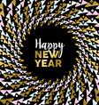 Happy new year gold mandala tribal art card design vector image