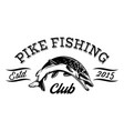 in sport style for fishing with pike vector image vector image