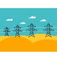 industrial power lines in flat style vector image vector image