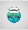 international nurses day logo icon design vector image vector image