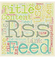 JP RSS feed text background wordcloud concept vector image vector image