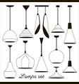 lamps sign set for interior vector image