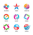 logo set - abstract business sign strategy vector image