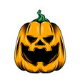 monster yellow pumpkin with big laugh vector image vector image
