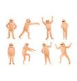 mummy icons set cartoon style vector image vector image