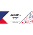 national freedom day banner vector image vector image