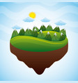 natural panorama view of the mountain sun day vector image