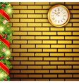 new year brick wall vector image