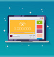 online video with 5 million views flat design vector image vector image