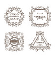 ornamental frames design vector image