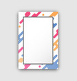 photo frame with paint splashes border and figures vector image vector image