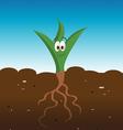 plant happy vector image vector image