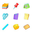 post stationery icons set cartoon style vector image vector image